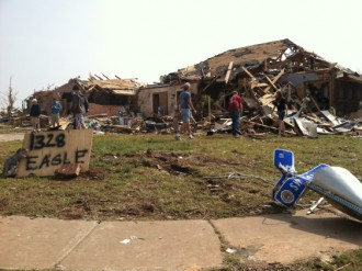 Tornado damaged home in Moore, Oklahoma (WQAD Photo)